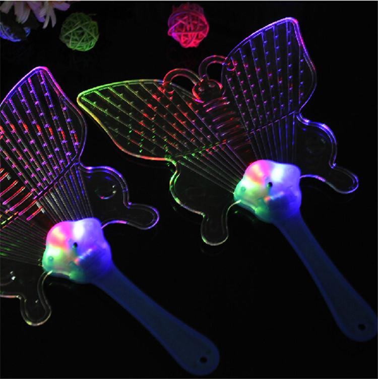 Wholesale projector the new night light crystal hot colorful light up fan Flash fan PROM the luminous led kids toys