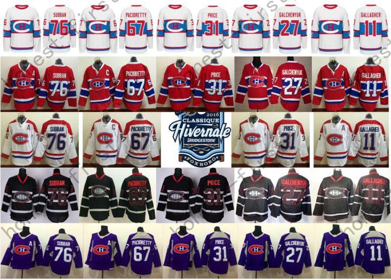 68e188f99 2019 2016 Winter Classic Jerseys Hockey 76 P.K. Subban 31 Carey Price 67  Pacioretty 11 Gallagher 27 Galchenyuk From Honest First