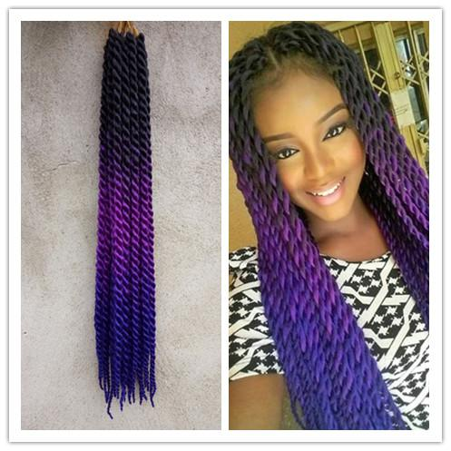 10rootspack 5packs 24 blackpurpleblue ombre pre twist braiding 10rootspack 5packs 24 blackpurpleblue ombre pre twist braiding hair extensions synthetic twist hairstyles cabelo haar zopfe 2x twist pmusecretfo Images