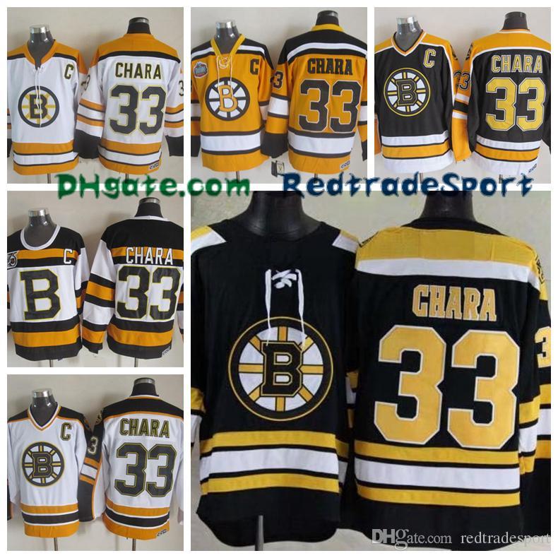 Mens Boston Bruins Hockey Jerseys 33 Zdeno Chara Black 75 Anniversary Zdeno  Chara Winter Classic Yellow Jersey C Patch UK 2019 From Redtradesport 648fb34a1
