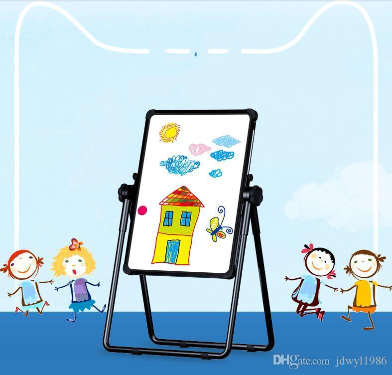 Child Double Sides rotation Magnetic Blackboard Whiteboard/ Kids Big Writing And Drawing Board Toys With Eraser/Chalk/Marker