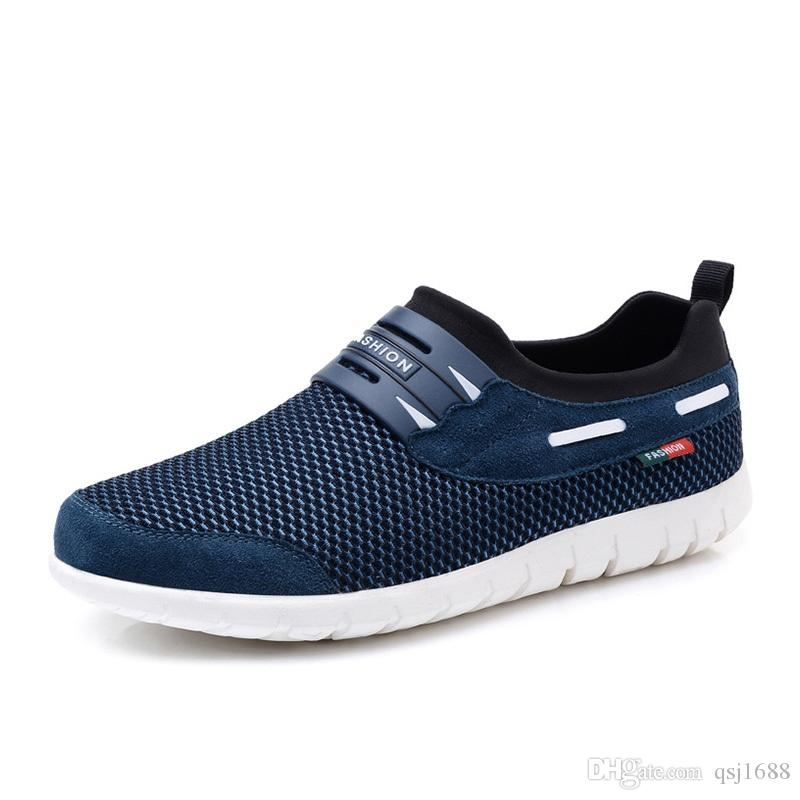Shoes Mens Casual Shoes Low-Top Sneakers Breathable Lace-up Deck Boat Shoes (Color : Gray Size : 43)