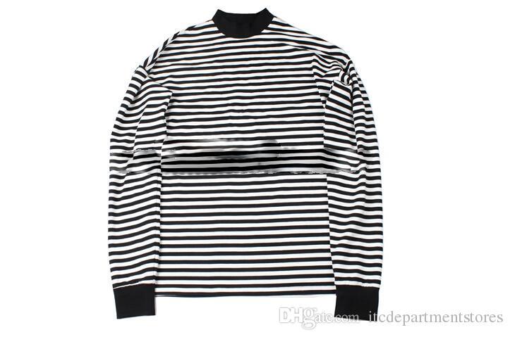 streetwear ropa de hip hop harajuku guay tamaño EE. UU. camisas casuales camisa a rayas de gran tamaño camisa de manga larga drake justin bieber