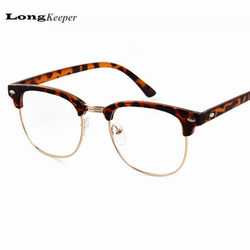 3909ec207f 2019 Wholesale New Style Plain Eye Glasses Men Women Optical Computer  Glasses Frame Brand Designer Oculos De Grau Lunette PSTYOF1861 From Gocan