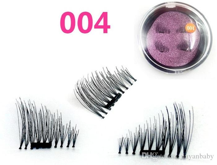 Creative NEW trend 3D magic reusable magnetic eyelashes hand made silk single magnet false eyelashes