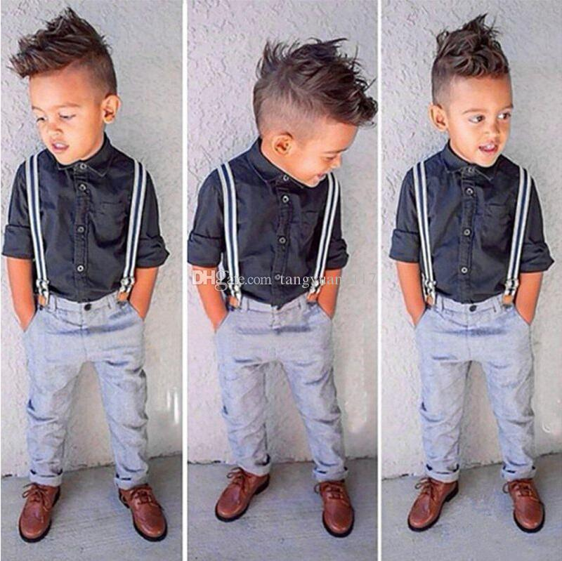 497c68a53 Newest Edition Handsome Children Boys Outfits Sets Suits Autumn ...