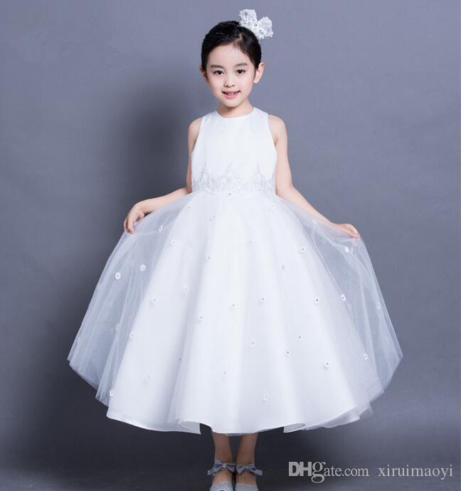 Baby Girl Wedding Dress Top Quality Girls White A-line Lace Dresses ...