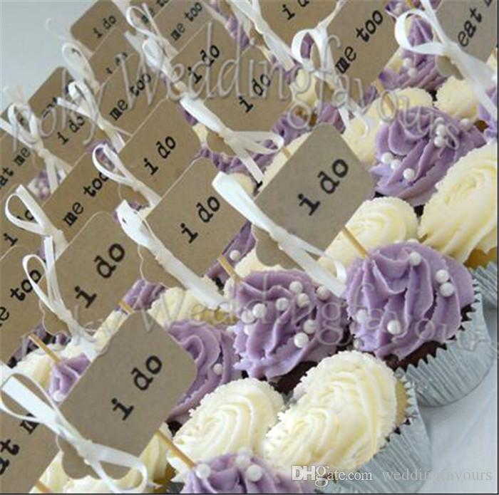 I DO Cupcake Picks Wedding Supplies Party Cupcake Picks Topper I DO Toothpicks Favors Table Decoration