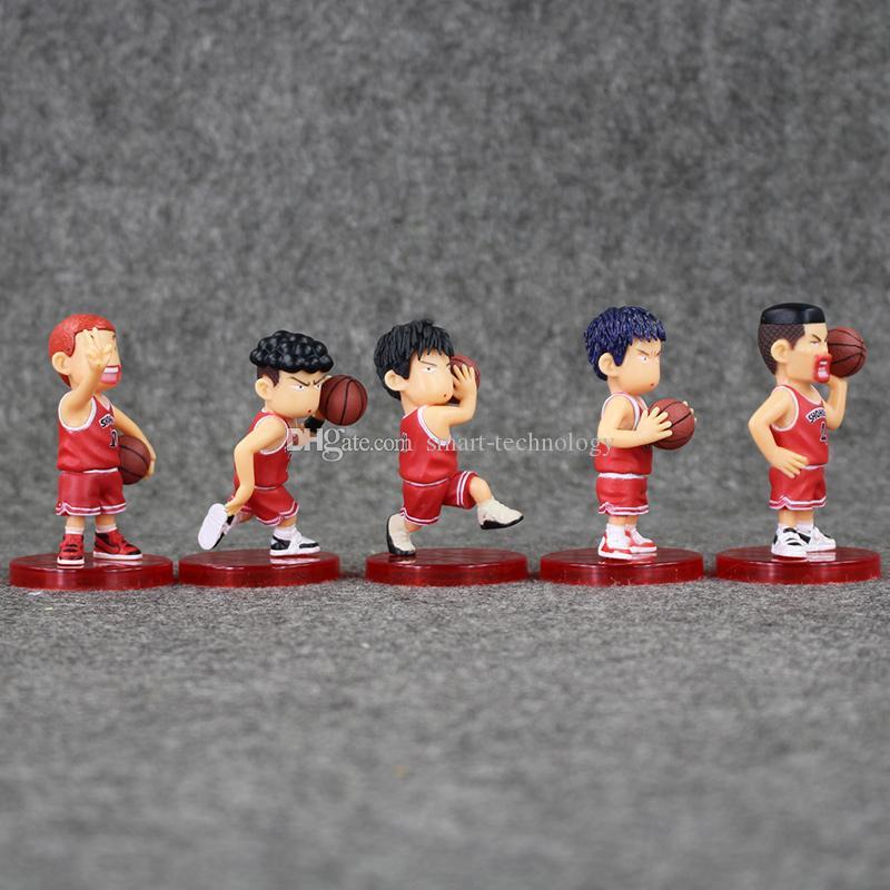 7-7.5cm slam dunk Shohoku Rukawa Kaede / set PVC Action Figure da collezione modello giocattolo i bambini di regalo al minuto il trasporto libero