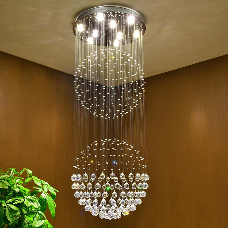 Luxury Crystal Chandeliers Contemporary Ceiling Lamp Gu10 Led ...