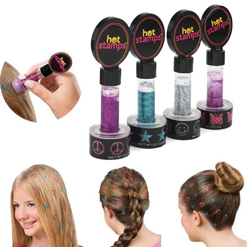 Fashion Women Hot Stamps Hair Glitter For Gilrls / Women Diy Hair ...