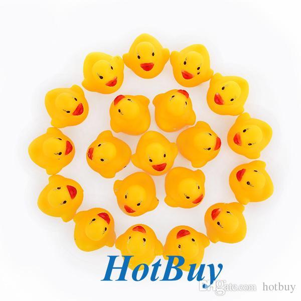 Bebek Çocuk Kız Kauçuk Erkek Çocuk Banyo Oyuncak Sevimli Kauçuk Squeaky Ördek Ducky Sarı Renk # 3851