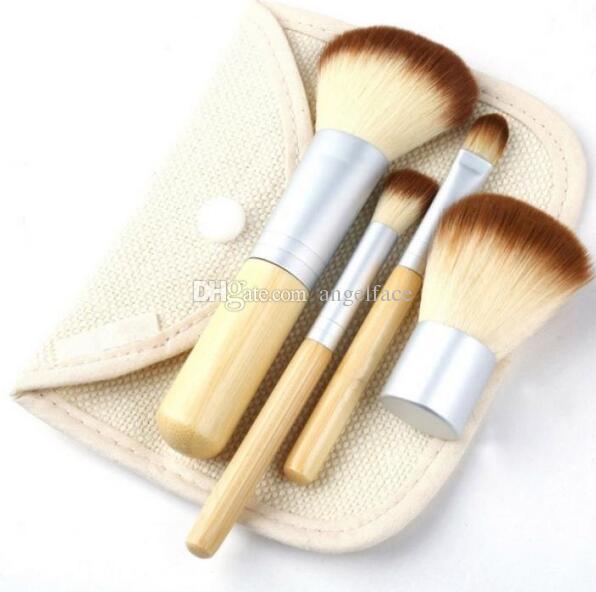 Fashion BAMBOO Portable Makeup Brushes Make Up Make-up Brush Cosmetics Set Kit Tools brush Factory price