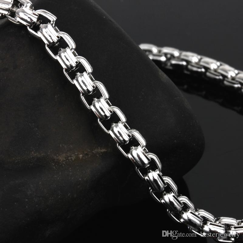 4.5mm Square Linked 316L Stainless Steel Chains with Lobster Closure,four length for your choose