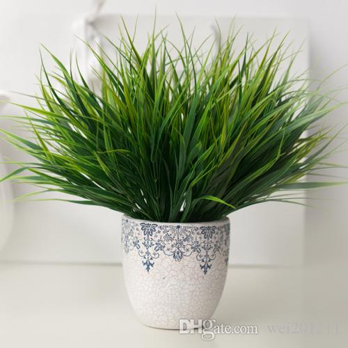 2018 green artificial plants grass plastic simulation flowers plant 2018 green artificial plants grass plastic simulation flowers plant for household store dest rustic garden decorations 36cm length from wei201211 workwithnaturefo