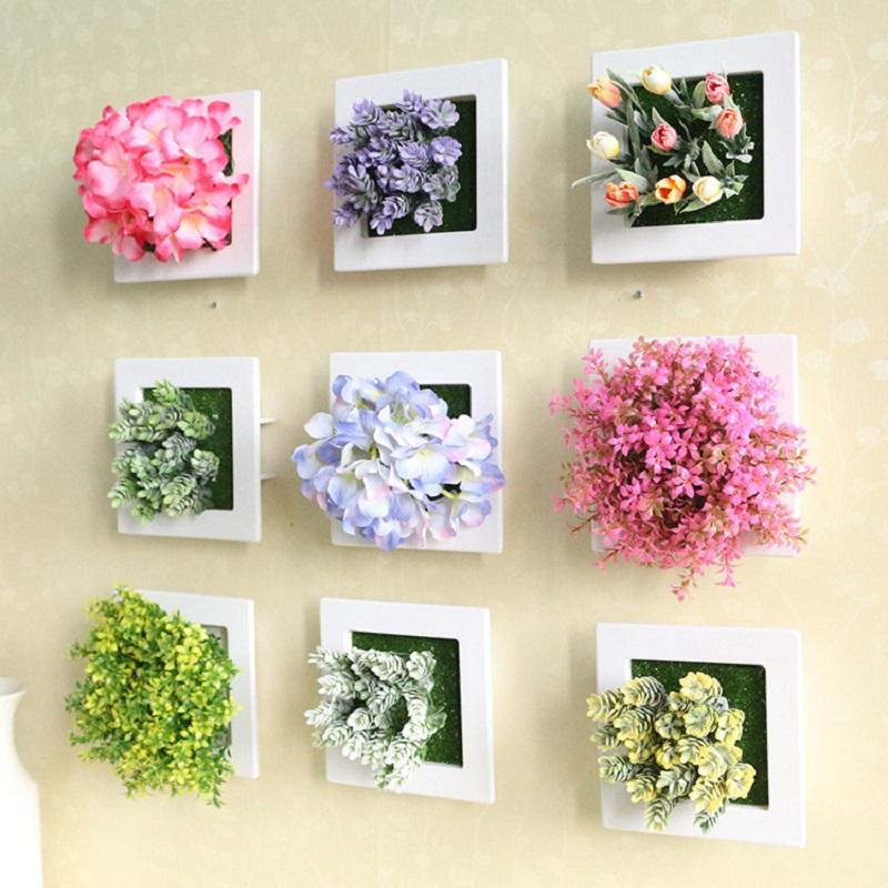 2018 wedding decoration 3d artificial flowers stereo artificial 2018 wedding decoration 3d artificial flowers stereo artificial plants wall decorative painting silk flowers decor frame fake plants from yigu001 junglespirit