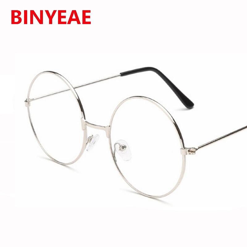8c7cf04b108 2019 Wholesale Clear Lens Oversized Huge Large Round Glasses Gold Metal  Eyeglasses Huge Circle Round Optical Glasses Frame Eyewear No Degree From  Juemin