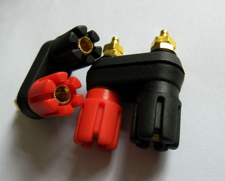 / 1lot Amplifier Double Binding Post Audio Terminal Speaker Banana Cable Plug Connector Jack socket