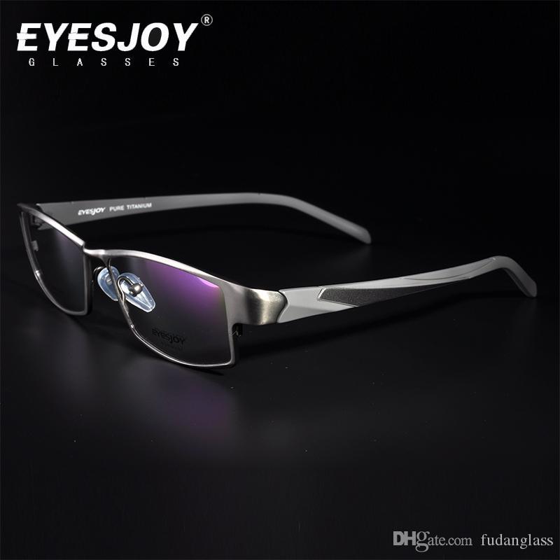 Pure Titanium Glasses Frame Brands For Men Women Myopia Eyeglasses ...