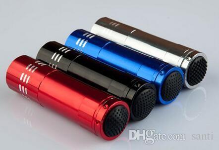 Mini 9 LED uv Gel Curing Lâmpada sem bateria Portabilidade Prego Secador LED Lanterna Moeda Detector de liga de alumínio