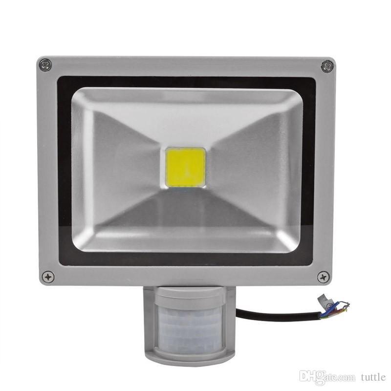 PIR LEVOU Luz de Inundação Sensor de Movimento de iluminação Ao Ar Livre 10 W 20 W 30 W 50 W À Prova D 'Água IP65 AC85-256V Sensor de Indução Luz Do Jardim