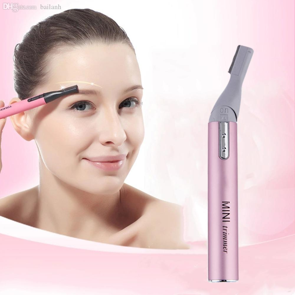 Wholesale Womens Electric Eyebrow Trimmer Lady Shaver Legs Eyebrow
