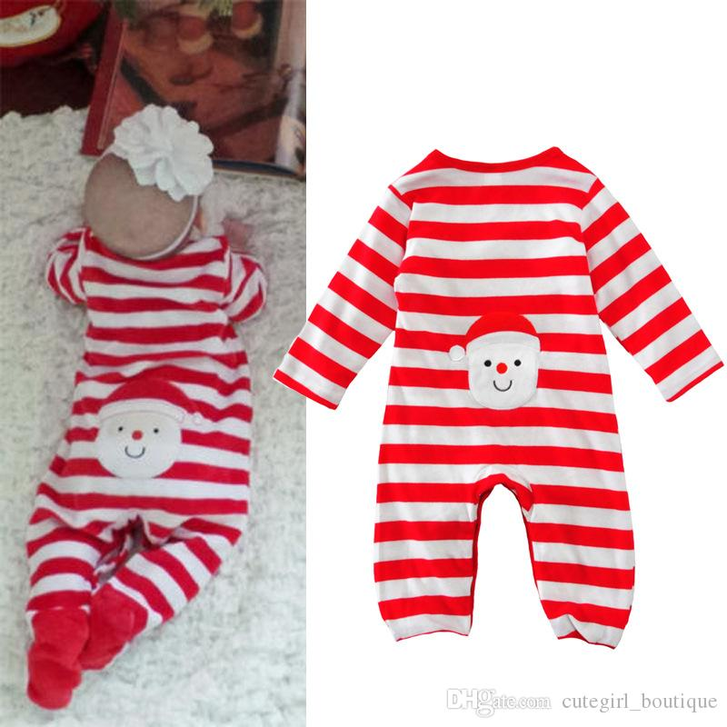 2018 Baby Boys Girls Christmas Outfits Infancotton Printing Romper ...