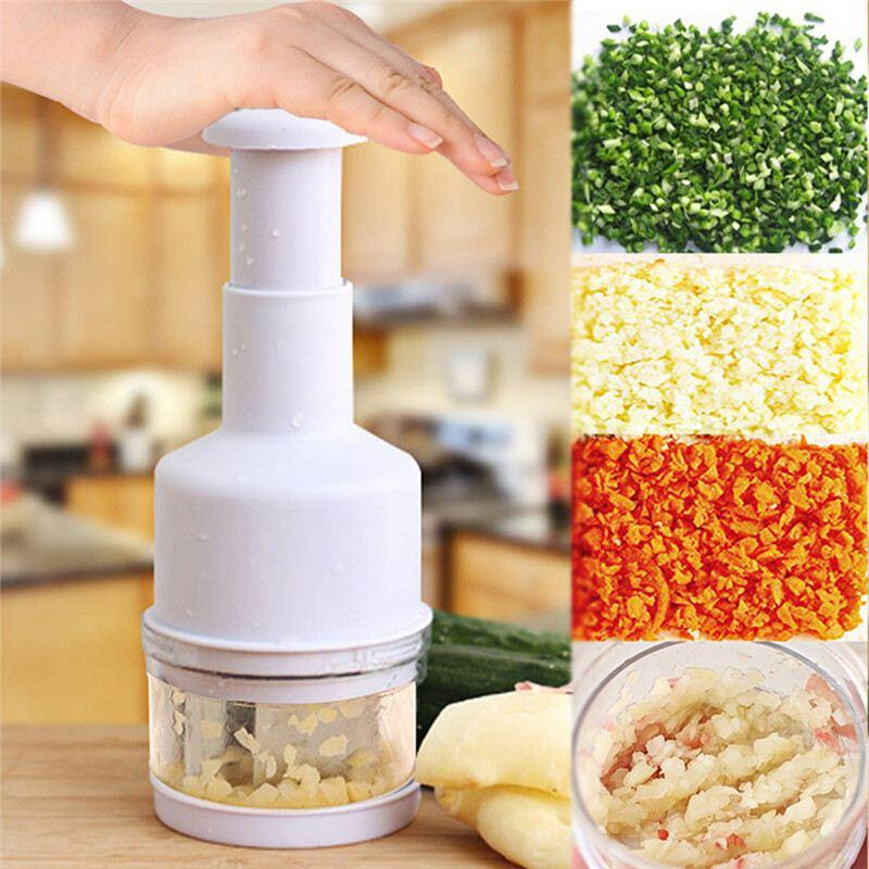 New Kitchen Gadgets Pressing Vegetable Onion Garlic Chopper Cutter Slicer  Peeler Shredders White for Kitchen Cooking Tools