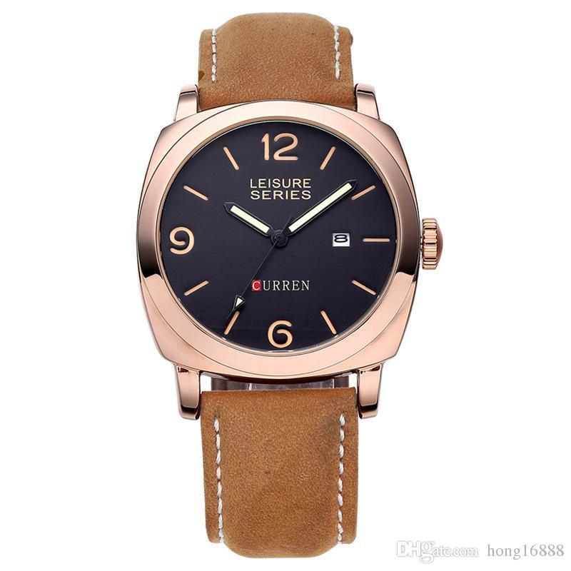4ecae4d36924 Compre CURREN 8158 Hombres Reloj De Pulsera Hombres Reloj De Cuarzo ...