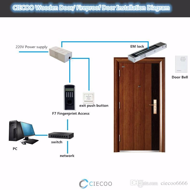 2018 Zk Finger V9 0 Biometric Fingerprint Access Control System Door Security Employee Recognition For Glass Wooden From