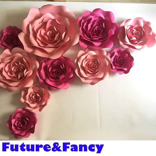 2019 Set Large Simulation Cardboard Paper Rose Flowers Showcase