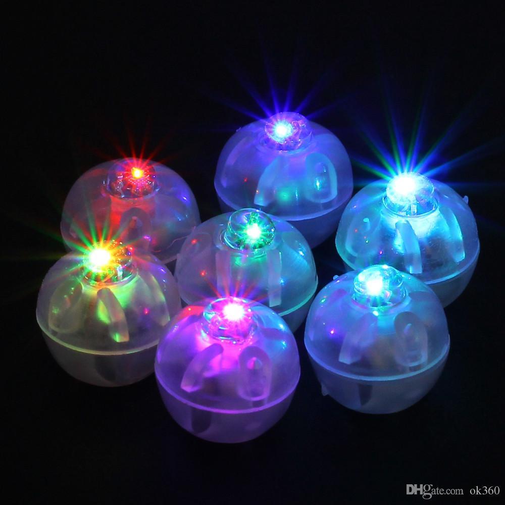 랜턴 크리스마스 웨딩 파티 장식 다채로운 라운드 주도 RGB 플래시 볼 램프 풍선 조명 수중 랜턴 조명