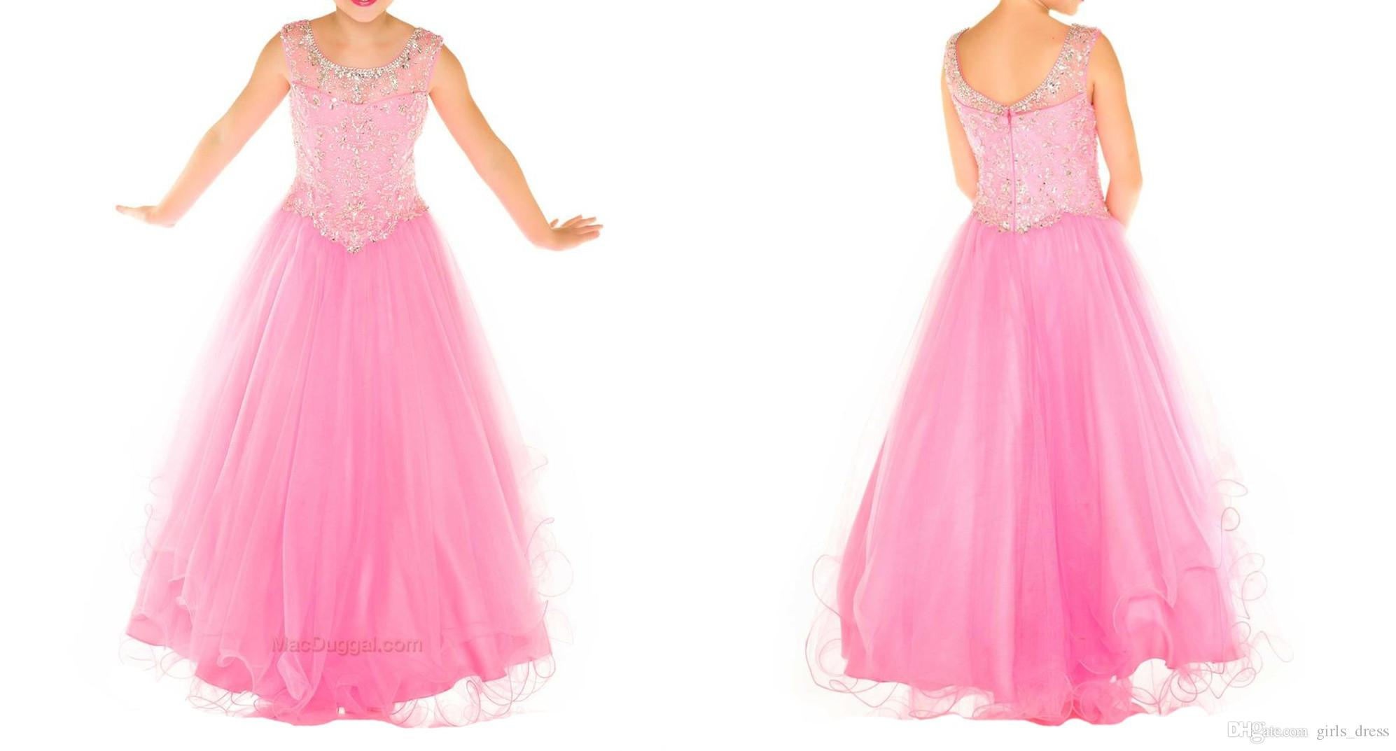 Compre Sugar Little Girl Vestido De Concurso Con Crystal Beadings ...