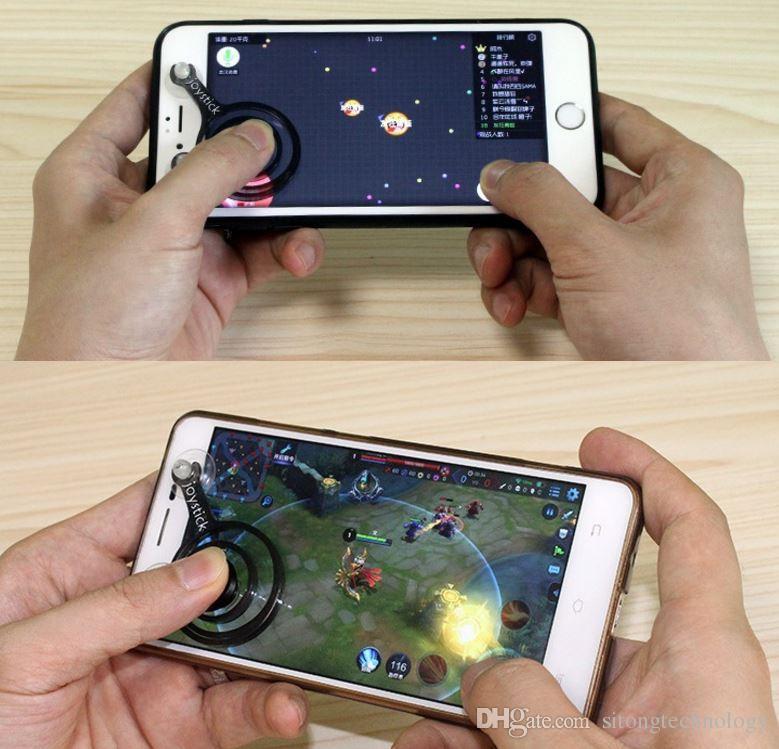 Mobile Transparent Joystick Gamepad Dual Stick Controller Games Direction Screen sucker For iPhone 6 7 8Samsung xiaomi Android