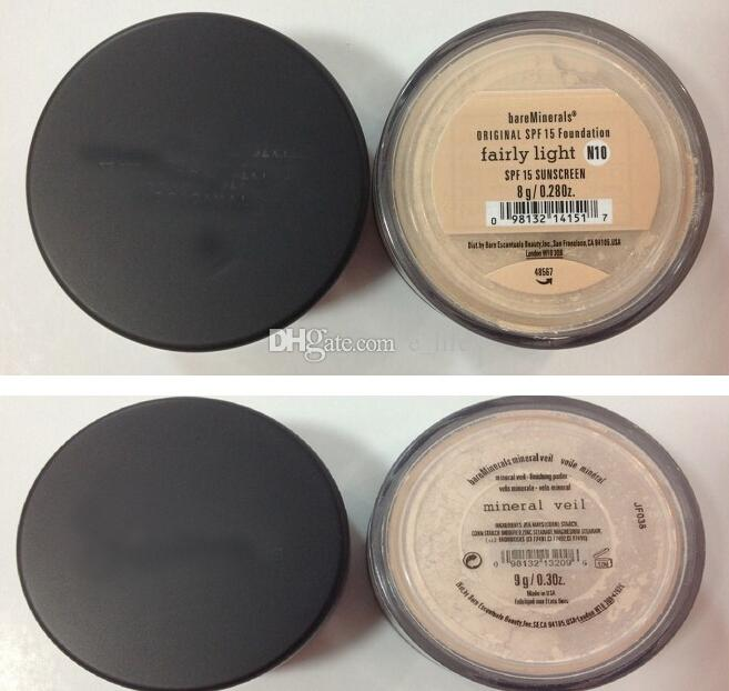 Mejor precio HOT Minerals original Foundation 8g NUEVO Click / Lock bastante claro / medio beige / Mineral VEIL 9g / illuminating 9g / medium