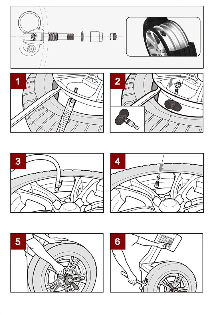 태양 광 발전 TPMS 자동차 타이어 압력 모니터링 시스템 내부 센서 PSI / BAR 타이어 압력 모니터링 시스템