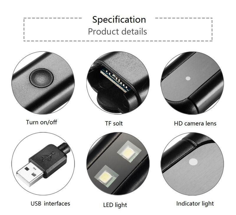 Drahtlose Wifi USB LED Licht Lampe MINI Kamera H9 HD 1080P Mini Nachtlicht Lampe Video Recorder Unterstützung 24 Stunden Remote Monitor Cam