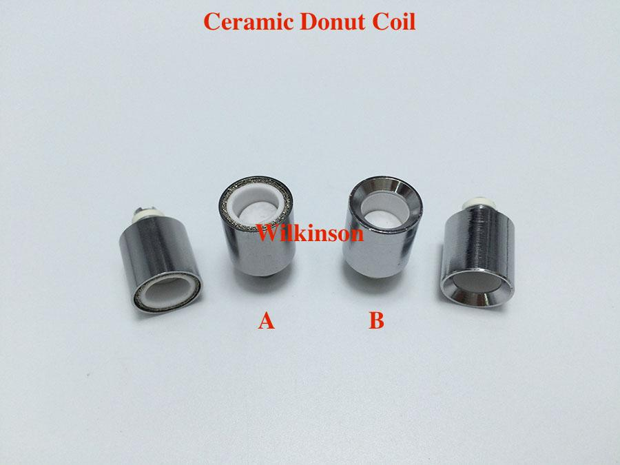 Update Ceramic Donut Coils Wax Coils for glass globe atomizer Cannons bowling atomizer donut coils ecigs glass Vhit vaporizer donut wax tank