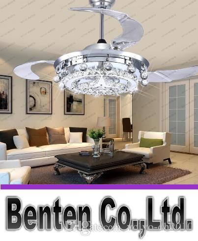 2019 LED Fan Crystal Chandelier Dining Room Living Droplights Modern Wall Remote Control Lights LLFA From Volvo Dh2010