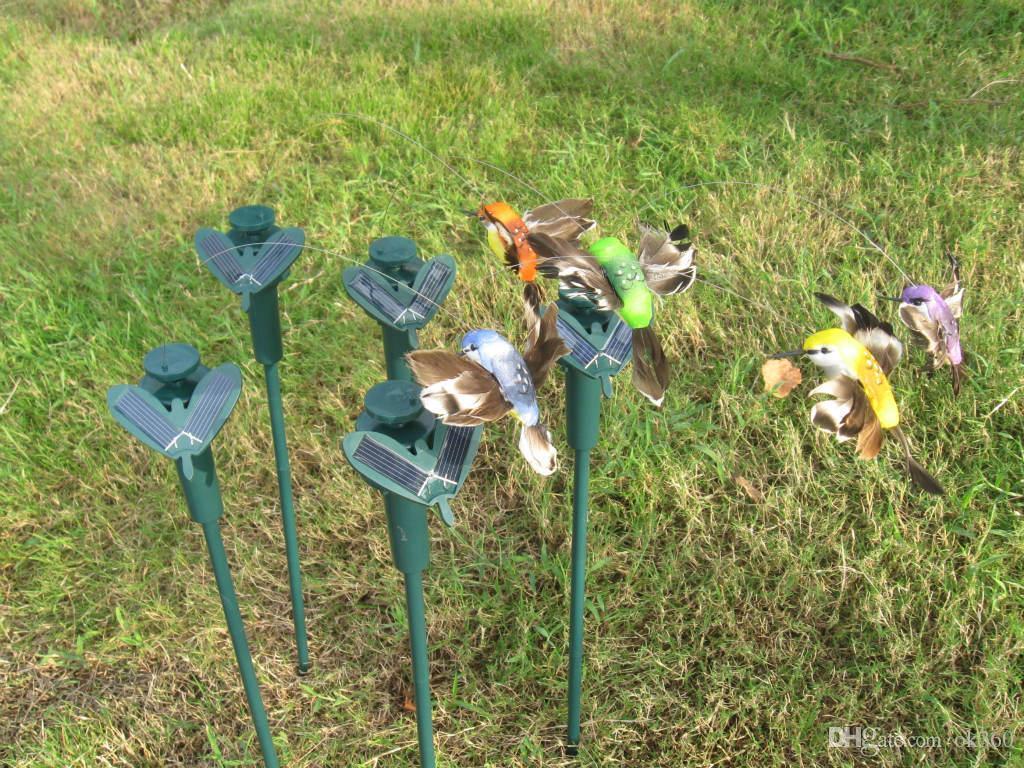 Nouveaux colibris solaires, jouets de jardin de papillons, étudiants lumières éducatifs enfants jouets cadeaux d'énergie solaire avec batterie