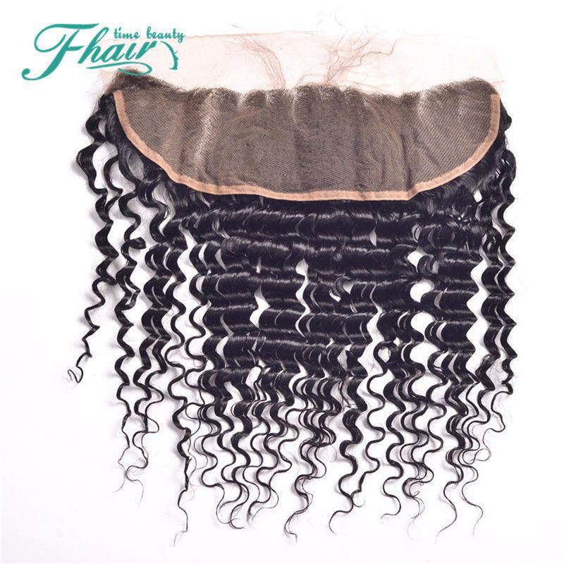 Будущее время красота волос бразильский глубокая волна полный фронтальный кружева закрытие 13x4 кружева фронтальная закрытие С детские волосы кружева топ закрытие
