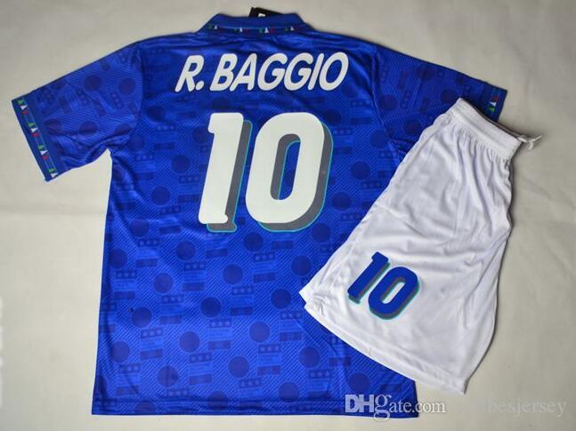 Retro Jersey 1994 94 World Cup Italy BAGGIO Blue Shirt Jerseys From  Sellbesjersey 8e1aba9d2