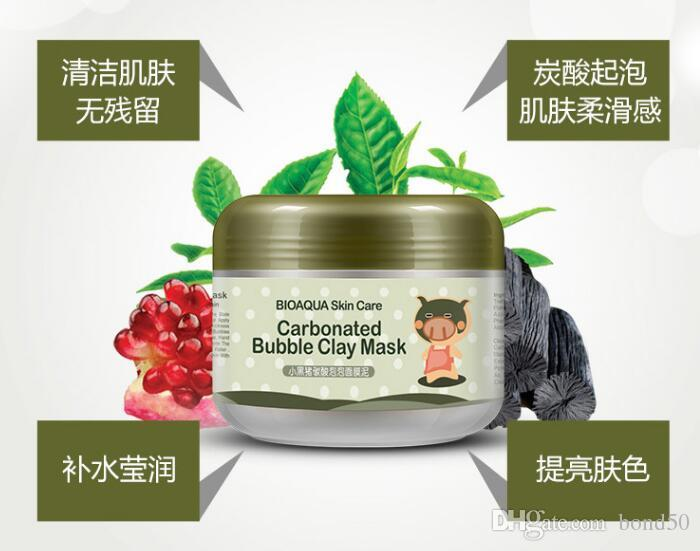 BIOAQUA pig carbonated bubble clay Mask 100g remove black head skin pores face care facial sleep mask BIOAQUA Skin Care