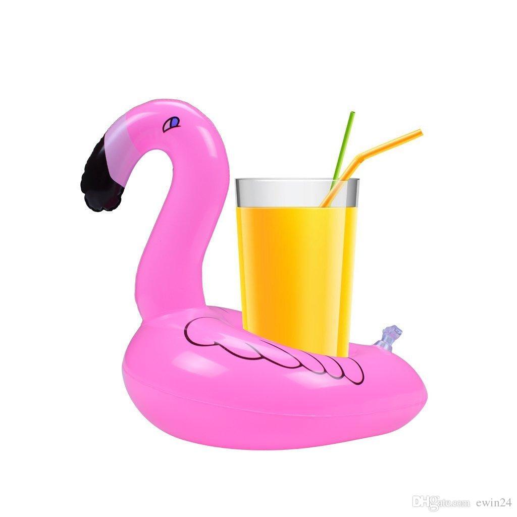 Pool Float Fun Flamingo Piscina gonfiabile Toy e Cup Holder Ottimo feste in piscina Bath time Portabibite e decorazioni