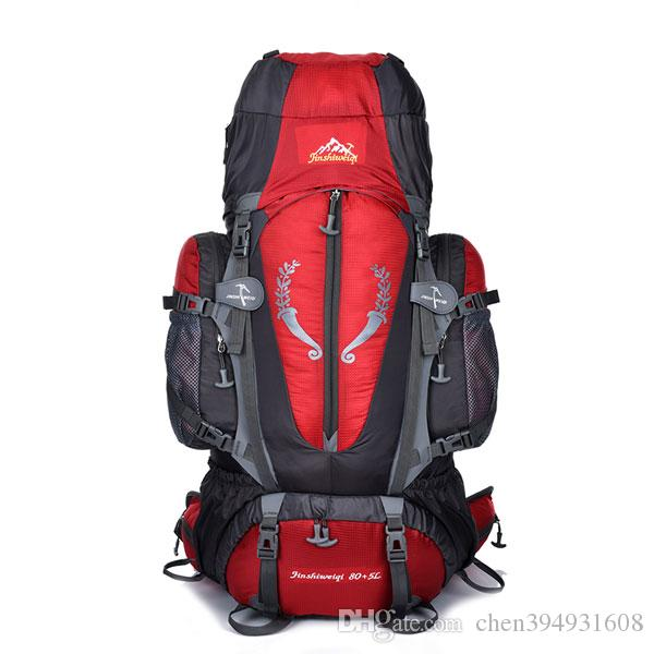 b2a46218f3 2019 Large 85L Outdoor Backpack Unisex Travel Multi Purpose Climbing  Backpacks Hiking Big Capacity Rucksacks Camping Sports Bags From  Chen394931608