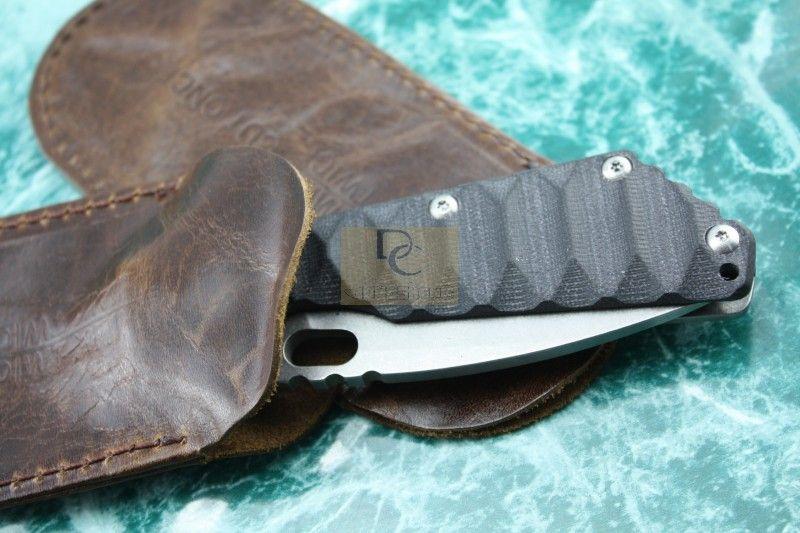 / 손은 Sebenza Whaleshark와 같은 접히는 칼 포켓 칼 신사 칼을 % s 100 % 진짜 가죽 외피 주머니를 만들었다