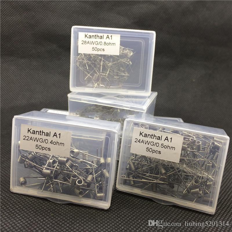 kan'thal A1 wire prebuilt coils 22 24 26 28 30 32awg premade coil kan'thal a1 coil for rda aspire nautilus mini Pre-built