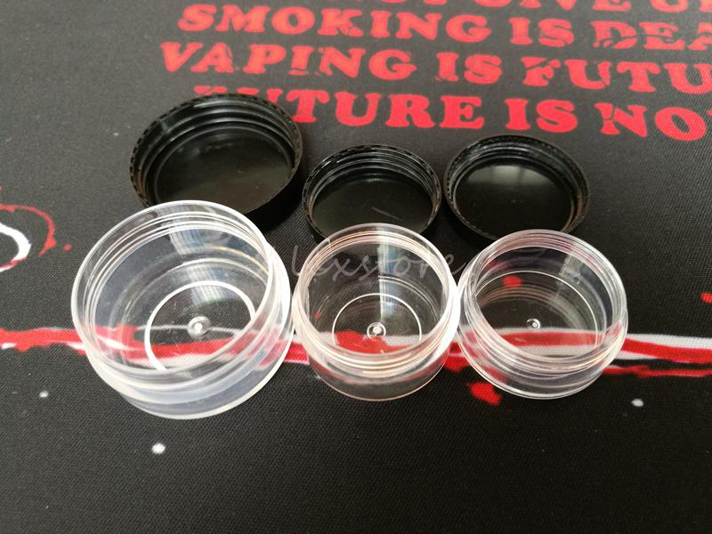 Plastic wax container round and square shape 3g 5g 10g make up silicone containers box clear makeup case dab dabber DHL