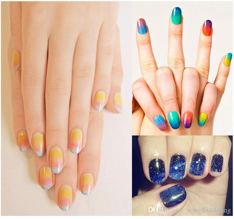E023 8 Triangle Nail Art Polish Gel Gradient Color Stamping Stamp ...