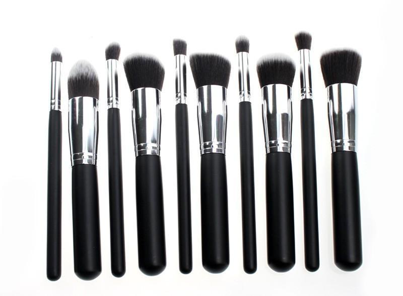 best professional makeup brush set. good quality professional makeup brushes 10pcs/set beauty make up brush set kits kabuki foundation tools 50sets best